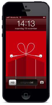 iPhone 5 Christmas Rood